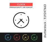 vector clock icon. time...