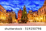 stortorget square decorated to... | Shutterstock . vector #519250798