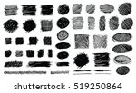 set of hand drawn scribble... | Shutterstock .eps vector #519250864