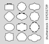various of frame shapes for... | Shutterstock .eps vector #519252739