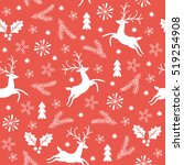 seamless christmas pattern | Shutterstock .eps vector #519254908