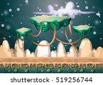 cartoon vector floating island...   Shutterstock .eps vector #519256744
