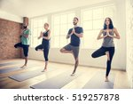 yoga practice exercise class... | Shutterstock . vector #519257878