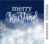merry christmas. holiday card... | Shutterstock .eps vector #519261316