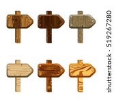 set of wooden pointers. game...