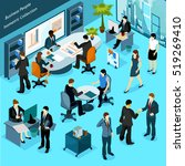 business people isometric... | Shutterstock . vector #519269410