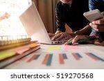 business team meeting present...   Shutterstock . vector #519270568