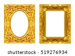 set 2   antique picture golden... | Shutterstock . vector #519276934