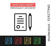 vector sign document icon....
