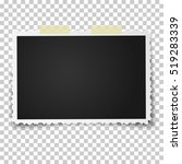 realistic vector photo frame... | Shutterstock .eps vector #519283339