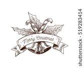 hand drawn christmas logo ...   Shutterstock .eps vector #519283414