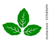 mint leafes icon vector... | Shutterstock .eps vector #519285694