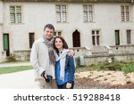 happy and lovely tourists with... | Shutterstock . vector #519288418