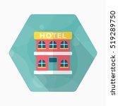 hotel icon  vector flat long... | Shutterstock .eps vector #519289750