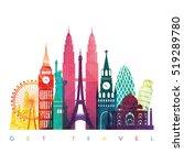 world skyline. travel and...   Shutterstock .eps vector #519289780