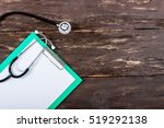 medical clipboard and... | Shutterstock . vector #519292138