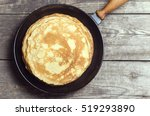 stack of pancakes on a cast... | Shutterstock . vector #519293890