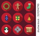 Christmas Icon Vector Red...