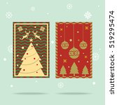 christmas greeting card vector | Shutterstock .eps vector #519295474
