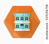 hotel icon  vector flat long... | Shutterstock .eps vector #519296758