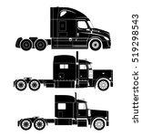 american semi truck vector set   Shutterstock .eps vector #519298543
