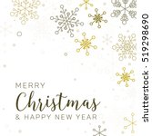 retro simple christmas card... | Shutterstock .eps vector #519298690