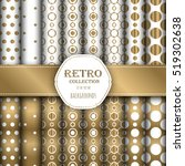 gold and white collection of... | Shutterstock .eps vector #519302638