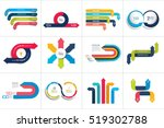 Mega set of various arrows infographic concepts. | Shutterstock vector #519302788