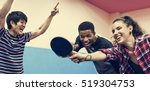 table tennis ping pong friends... | Shutterstock . vector #519304753