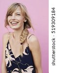 stunning woman laughing on... | Shutterstock . vector #519309184