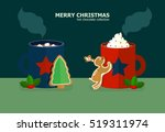 cups of hot chocolate with... | Shutterstock .eps vector #519311974