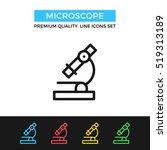 vector microscope icon.... | Shutterstock .eps vector #519313189