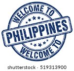 welcome to philippines. stamp. | Shutterstock .eps vector #519313900