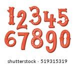 hand drawn vintage numbers set | Shutterstock .eps vector #519315319