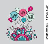 happy new year balloons with... | Shutterstock .eps vector #519315604