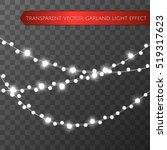 christmas lights isolated... | Shutterstock .eps vector #519317623