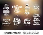 inspirational quotes set.... | Shutterstock .eps vector #519319060