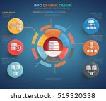 network and database server... | Shutterstock .eps vector #519320338