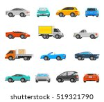 vehicles orthogonal icons set... | Shutterstock . vector #519321790