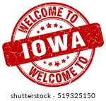 welcome to iowa. stamp. | Shutterstock .eps vector #519325150