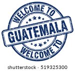 welcome to guatemala. stamp. | Shutterstock .eps vector #519325300