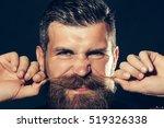 funny bearded man with beard... | Shutterstock . vector #519326338