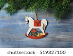 christmas background. holiday...   Shutterstock . vector #519327100