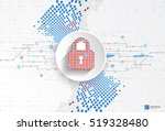 protection concept of digital... | Shutterstock .eps vector #519328480