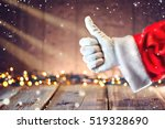 santa claus hand thumb up... | Shutterstock . vector #519328690