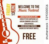 acoustic guitar event design... | Shutterstock .eps vector #519330016