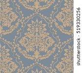 vintage baroque damask pattern. ... | Shutterstock .eps vector #519330256