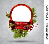 greeting card with christmas... | Shutterstock .eps vector #519331093