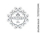 boutique  beauty logo series | Shutterstock .eps vector #519331444