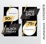 black friday sale. design... | Shutterstock .eps vector #519335878